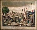 Litografia a colori della consegna delle chiavi del cairo a napoleone, post 1799.jpg