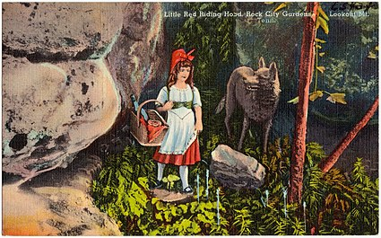 Little Red Riding Hood, Rock City Gardens, Lookout Mt, Tenn (65434)