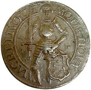 Wolter von Plettenberg - Gold coin depicting Wolter von Plettenberg (1525), National Museum in Warsaw