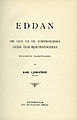 Ljungstedt, Eddan - Om och ur de fornnordiska guda- och hjältesångerna (1898) titelblad.jpg