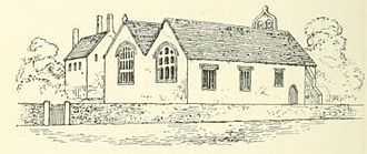 Old Church of St Nidan, Llanidan - John Skinner's drawing of the church from 1802