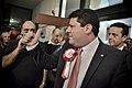 Llegada al John Mackintosh Hall de Fabián Picardo en la mañana en que se conocerán los resultados de las elecciones generales de Gibraltar (23265909321).jpg