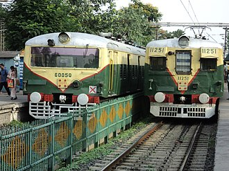 Kolkata Suburban Railway - Rakes of Kolkata EMU at Agarpara Station