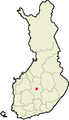 Location of Uurainen in Finland.png
