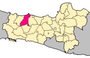Pemalang Regency - Image: Locator kabupaten pemalang