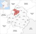 Locator map of Kanton Brantôme 2019.png