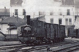Molay, Haute-Saône - Image: Locomotive corpet louvet 030T Vesoul Molay