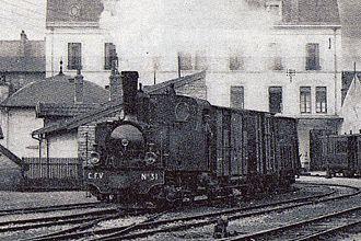 Molay, Haute-Saône - Image: Locomotive corpet louvet 030T Vesoul Molay