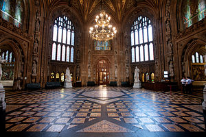 Lobbying in the United Kingdom - The lobby of the House of Lords and the House of Commons.