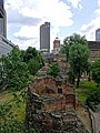 London Wall, St Giles Cripplegate and Cromwell Tower.jpg