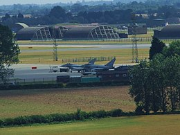 Long Lens View of RAF Coningsby taken from the top of Tattershall Castle - geograph.org.uk - 1739877.jpg