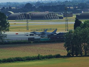 RAF Coningsby - The airfield seen from Tattershall Castle