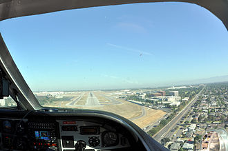 Long Beach Airport - Long Beach Airport's runway 30