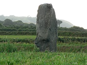 Longue Pierre standing stone, Guernsey.jpg