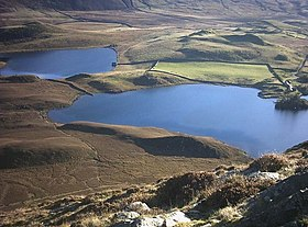 Looking down on Cregennan Lakes from Pared y Cefn Hir - geograph.org.uk - 247282.jpg