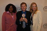Loretta Devine, David E. Kelley, and Jeri Ryan, May 2003 (6).jpg