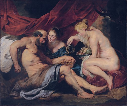 Lot and his daughters, by Peter Paul Rubens