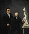 Louis Royer (1787-1868), beeldhouwer en Albertus Bernardus Roothaan (1793-1847), makelaar in effecten, kunstvriend en bevorderaar der wetenschappen Rijksmuseum SK-A-1114.jpeg