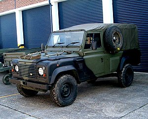 Military Tires on Land Rover Wolf In British Military Service