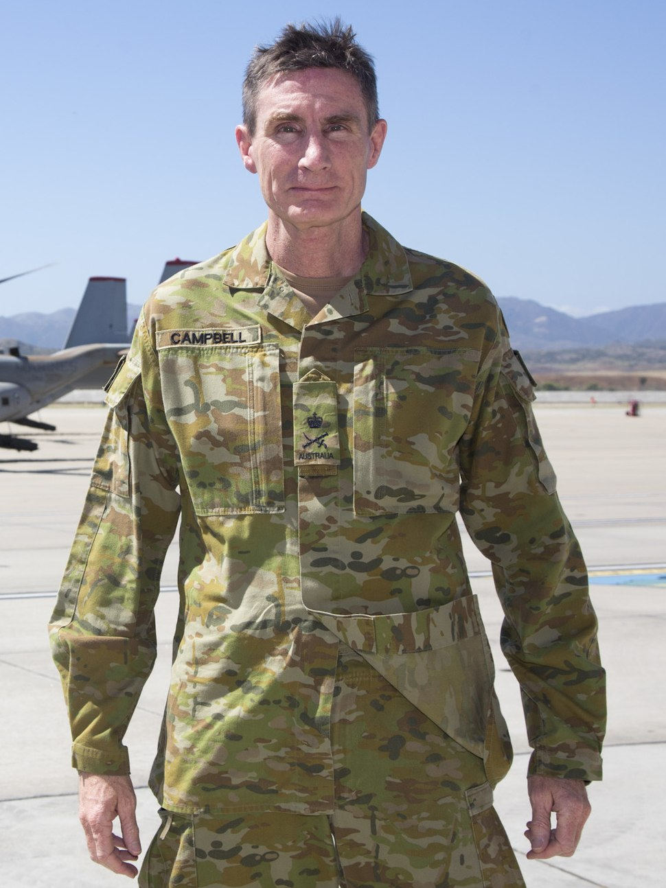 Lt General Angus Campbell in 2017