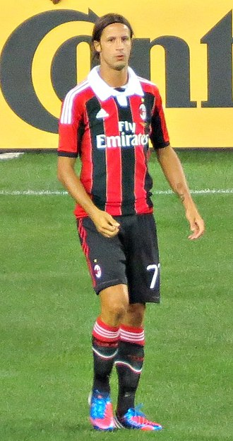 Luca Antonini - Antonini in action for A.C. Milan in 2012