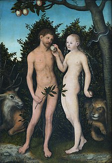 Lucas Cranach the Elder-Adam and Eve 1533