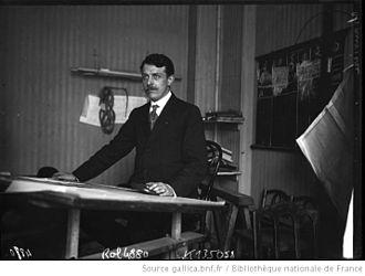 Lucien Chauvière - Lucien Chauvière at his drawing board, 1909.