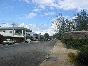 Luganville - Luganville main street Boulevard Higinson