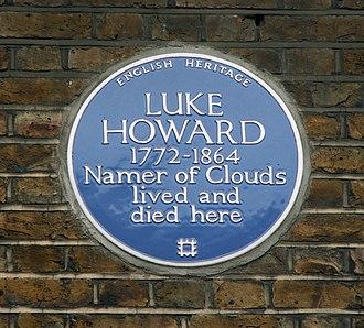 Luke Howard - English Heritage Blue plaque  – 7 Bruce Grove, Tottenham, London