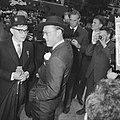 Lustrum Amsterdamse studenten, prins Bernhard met Mexicaanse hoed, Bestanddeelnr 914-0518.jpg