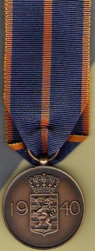 Military Medal (Luxembourg) - Image: Luxembourg Militay Medal rev
