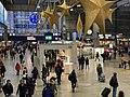 München Hauptbahnhof innen — Infostand für Baumassnahmen 2019.jpg