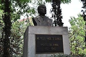 Viveros de Coyoacán - Bust of Miguel Angel de Quevedo