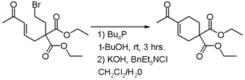 Intramolecular Baylis-Hillman Reaction displacing an alkyl bromide.