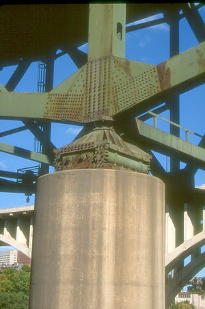 Gusset plate - Image: MN I35 SW pier