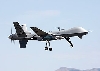 Unmanned combat aerial vehicle - A U.S. Air Force MQ-9 Reaper during a training mission