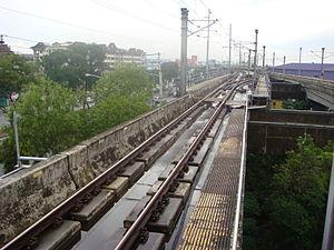Santolan LRT station - Image: MRT 2 Tracks Santolan 11