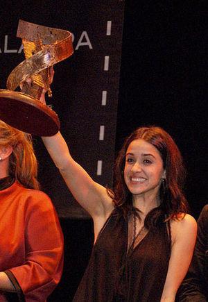"Macarena García - Macarena García when she got the CiBRA award in 2012 for her work in ""Blancanieves"""