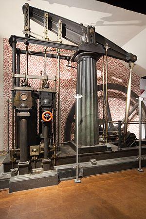 """Beam engine - Beam machine by Thomas Horn Museo Nazionale della Scienza e della Tecnologia """"Leonardo da Vinci"""", Milan."""