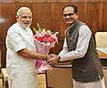 Madhya Pradesh CM Shivraj Singh Chauhan meets PM Modi.jpg