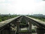 Magnetic Levitation (MagLev) rails in Longyang Rd Terminal, Pudong, Shanghai - panoramio.jpg