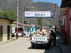 Quilalí - Image: Main Street into town, Quilalí, Nicaragua