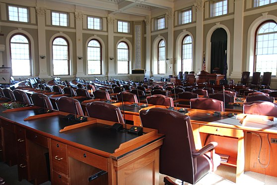 The floor of the Maine House of Representatives. Maine House of Representatives 2014.jpg