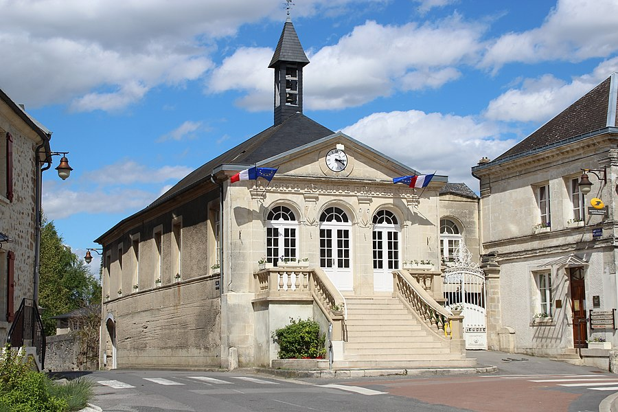 Town hall of Mons-en-Laonnois, France.