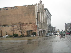 Majestic Theatre (East St. Louis, Illinois) - Side view of the theatre