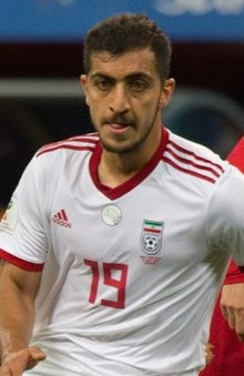 Majid Hosseini at IRNPOR match 2018 FIFA World Cup (cropped).jpg