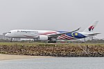 Malaysia Airlines (9M-MAG) Airbus A350-941 departing Sydney Airport.jpg