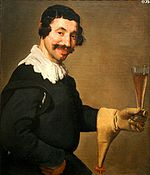 Man With a Wine Glass, att. to Velazquez (c.1630, Toledo).JPG