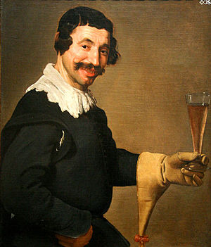 Portrait of Pablo de Valladolid - Image: Man With a Wine Glass, att. to Velazquez (c.1630, Toledo)