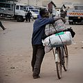 Man with loaded bicycle in Malawi-24Nov2009.jpg